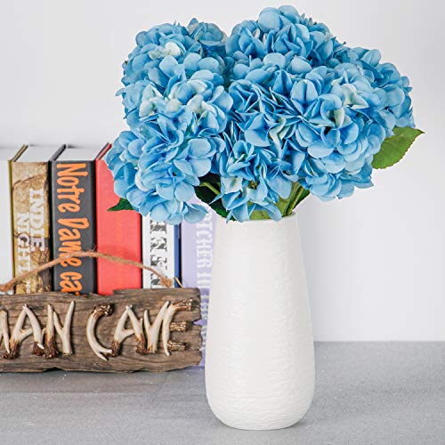 (TYEERDEC Artificial Flowers Hydrangea Silk Flowers Fake Flowers for Wedding Home Garden Hotel Party Decoration Pack of 1 - Blue)
