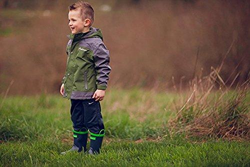 Oakiwear Children's Waterproof Rubber Rain Boots with Easy-On Handles, 12 Navy Blue by Oakiwear (Image #6)