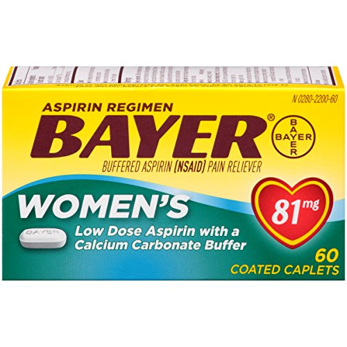 Bayer Women's Aspirin Plus Calcium Caplets, 81 mg, 60 count (Regimen Caplets)