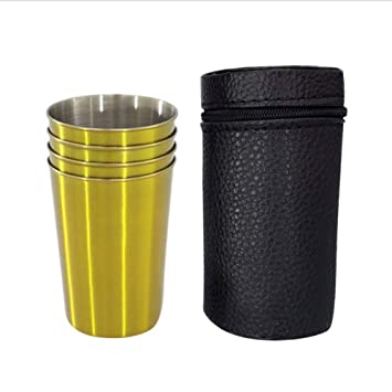 Taza Acero Inoxidable Camping (Paquete De 4) Mini Outdoor ...