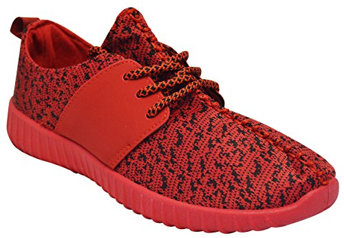 Bambu Tilt-01s Womens Sticka Sneakers Rött