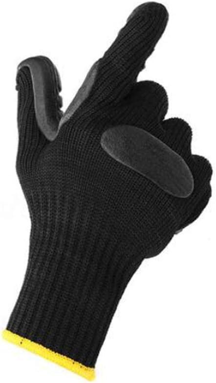 Kimmyer Guantes de Trabajo mecánico antivibración Corte Anti Taladro para taladradora L tamaño Multiusos, Negro, poliéster algodón: Amazon.es: Hogar