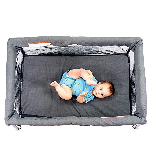 51MUTFl5jXL - UNiPLAY Pack N' Play Portable Playard — Lightweight Baby Playpen, Travel Crib With Comfortable Mattress And Breathable Mesh Crib Liner For Babies And Toddlers (23.6X 45.3x31.5 Inch)
