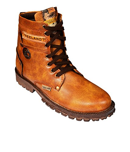 3bed6fadd242 ELVACE Tan Tree Land Boot Men Shoes-5049 (8)  Buy Online at Low ...