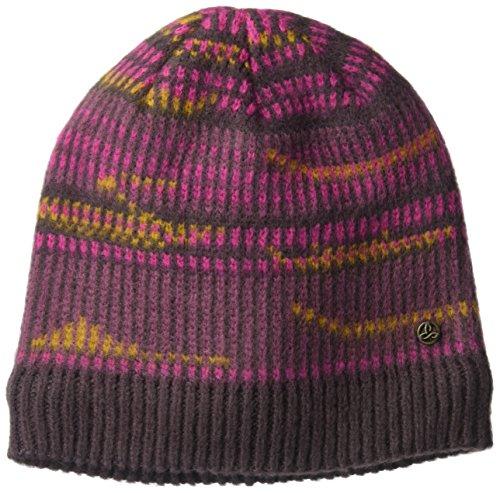 prAna Hahna Beanie Hat, Dark Plum, One Size -
