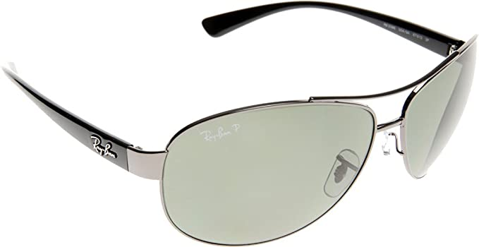 bf4b89e49e Image Unavailable. Image not available for. Color  Ray-Ban RB3386 RB3386  Sunglasses Gunmetal   Polar Green 67mm