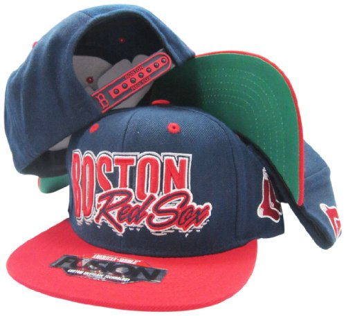 Boston Red Sox Navy/Red Fusion Angler Snapback Hat / Cap
