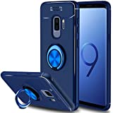Galaxy S9 Plus Case, Elegant Choise Hybrid Slim Durable Soft 360 Degree Rotating Ring Kickstand Protective Case with Magnetic Case Cover for Samsung Galaxy S9 Plus (Blue)