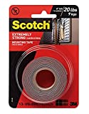 Tools & Hardware : Scotch Extreme Mounting Tape, 1 by 60-Inch, Black