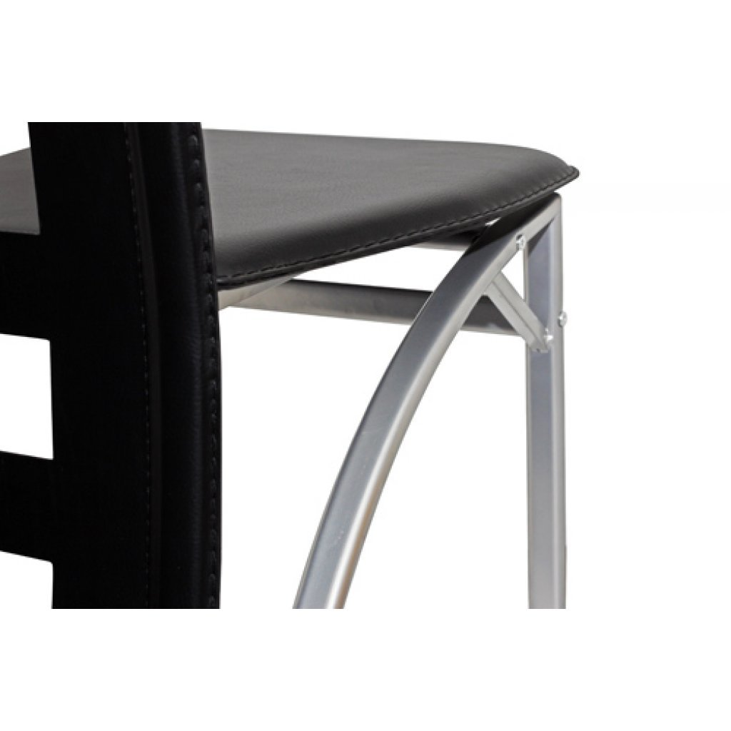 Perfect latest sedie moderne design ecopelle nere sedie for Sedie nere ecopelle