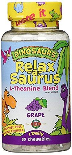 Kal Chewable Vitamins (KAL - Relax-a-Saurus Grape - 2Pack (30 chewable tablets))