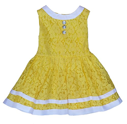 Youngland Little/Toddler Girls All Over Lace Sundress (5) Yellow