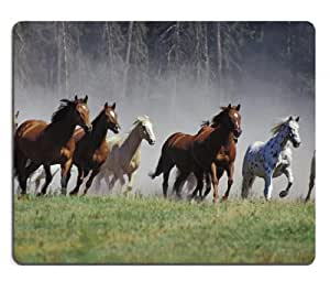 galloping horses herd ranch animal Mouse Pads Customized Made to Order Support Ready 9 7/8 Inch (250mm) X 7 7/8 Inch (200mm) X 1/16 Inch (2mm) High Quality Eco Friendly Cloth with Neoprene Rubber Liil Mouse Pad Desktop Mousepad Laptop Mousepads Comfortable Computer Mouse Mat Cute Gaming Mouse pad