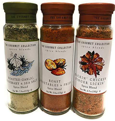 Roasted Garlic, Rosemary, Sea Salt; Roast Vegetables & Fries; Kickin' Chicken Finger Lickin' Spice Blend