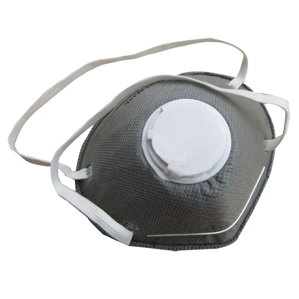 Healifty Máscaras faciales de carbón Activado con válvula Máscaras de PM2.5 a Prueba de Polvo para Viajar en Bicicleta Actividades al Aire Libre