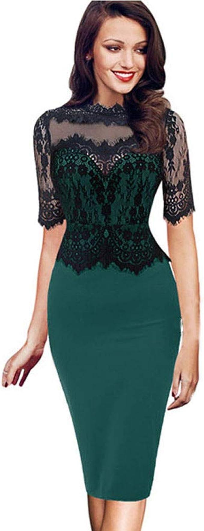 Vectry Kleider Damen Kleid Brautjungfernkleid Petticoat Lange
