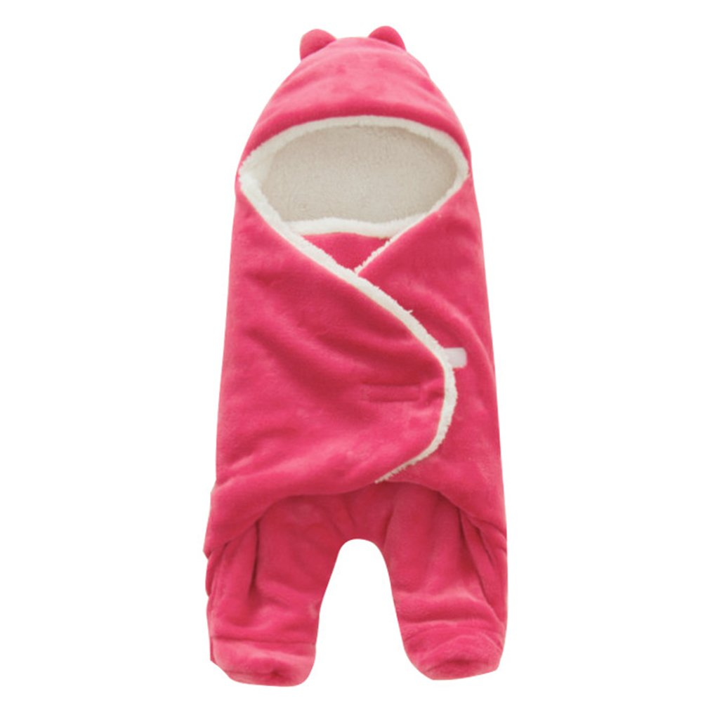 Baby Receiving Blanket,Sundlight Fleece Swaddle Wrap Newborn Baby Sleeping Blanket Unisex for Boys and Girls (Hot Pink)