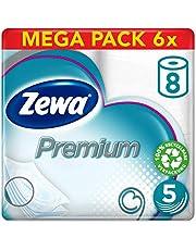 Zewa Premium toiletpapier 5-laags reuzenverpakking 6 verpakkingen (elk 8 rollen x 110 vellen)