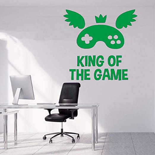 zqyjhkou King of Game Quote Tatuajes de Pared Juego Decoración ...