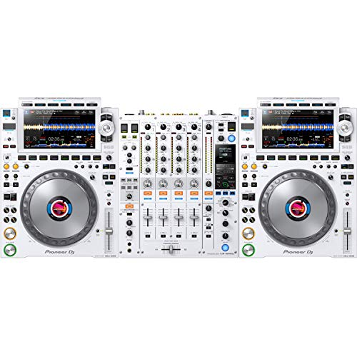 Pioneer DJ CDJ-3000 & DJM-900NXS2 DJ Top Set (White)