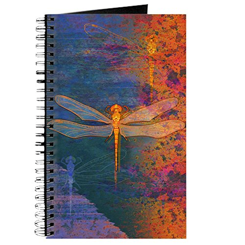 CafePress Flaming Dragonfly Notebook Personal