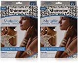Shimmer metallic Jewelry Tattoos 2 pack