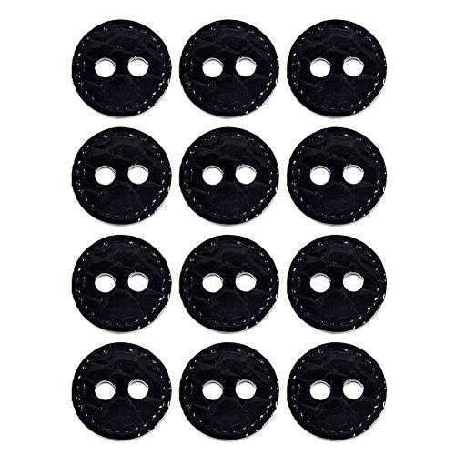 Mibo Nylon Sprayed Button Patent Imitation Leather Crocodile Pattern 2
