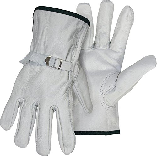 (BOSS MANUFACTURING 4070J 645305 Quality Grade Grain Cowhide Leather Driver Glove, X-Large, Gray )