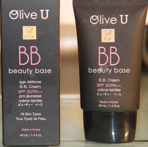 Olive U BB Beauty Base SPF 30 (01 Fair) 1.4 Fl Oz