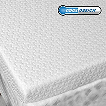 RUUF Memory Foam Mattress Topper Queen   3-Inch High Density Active Cooling Bed Topper   Removable & Washable Hypoallergenic Cover   Medium-Firm