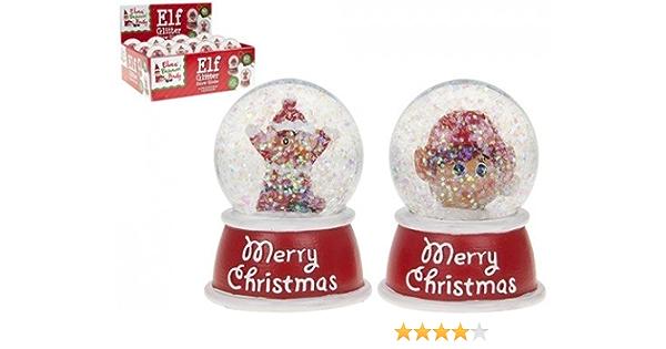 Diseño de elfo – Bola de nieve – Navidad 2017 – La Mala Elf: Amazon.es: Hogar