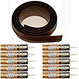 Auto Care Products Inc 52100 100-Feet Tsunami Seal Garage Door Threshold Seal Kit, Brown
