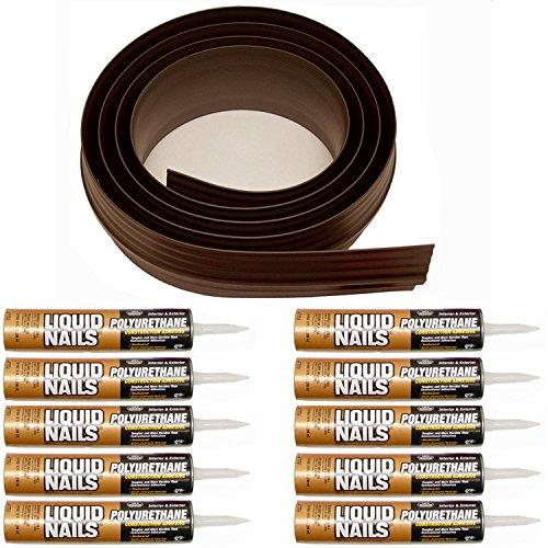 Auto Care Products Inc 52100 100-Feet Tsunami Seal Garage Door Threshold Seal Kit, Brown by Auto Care Products Inc. (Image #5)