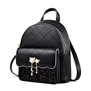FOXER Women's Genuine Leather Daypack Convertable Straps Backpack