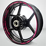 2 Tone Cranberry Motorcycle Rim Wheel Decal Accessory Sticker for Honda Goldwing