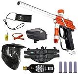 Azodin Blitz Paintball Marker Gun 3Skull 4+1 Halo Too Mega Set - Orange/Silver