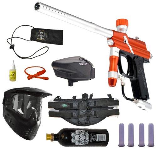 Azodin Blitz Paintball Marker Gun 3Skull 4+1 Halo Too Mega Set - Orange/Silver by 3Skull
