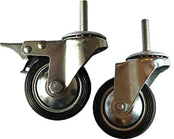 """Par de Kart Industrial 3 """"rueda giratoria ruedas"""