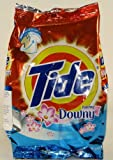 Tide with Plus a Touch of Downy Powder Laundry Detergent 14.1 Oz / 400 Gr 8 Loads Each (Case of 4 Bags) Total 32 Loads