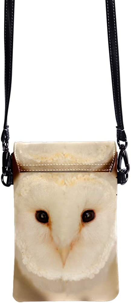small crossbody bag for women and men anti theft shoulder bags zip leather bag crossbody Animals Owl 7.5x4.7x0.8inch