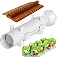 Sushi Set - Sushi Bazooka and Sushi Mat, Kitchen Appliance Machine Rice Roller Making Kit