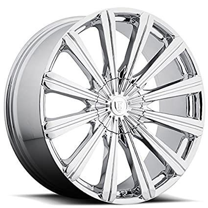 Amazon Com 24 Inch Borghini B18 Chrome Wheels Rims Only