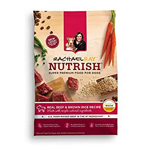 Rachael Ray Nutrish Natural Dry Dog Food, Beef and Brown Rice Recipe, 6 lbs