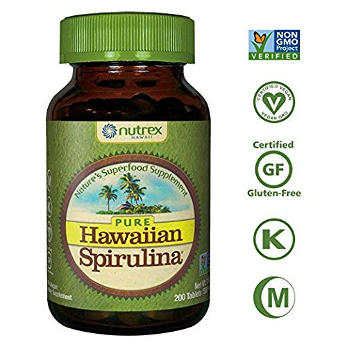 Pure Hawaiian Spirulina - 500mg tablets 200 count - Boosts Energy and Supports Immunity - Vegan, Non GMO - Natural Superfood Grown in Hawaii (Pack of 2) (Best Food In Hawaii)