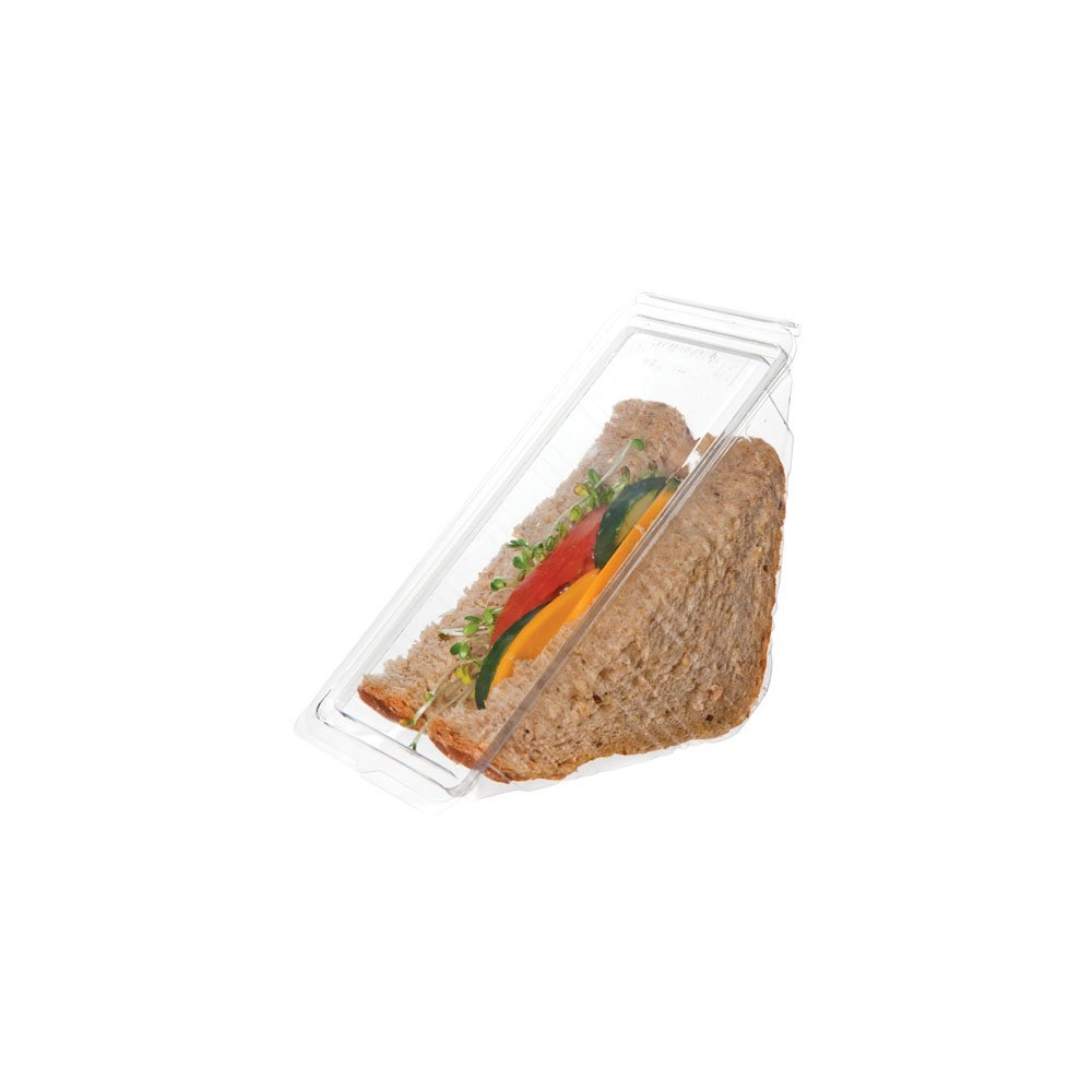 Eco-Products Renewable & Compostable Sandwich Wedge Containers, Case of 500 (EP-SWH3)
