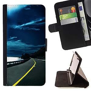 For Samsung Galaxy Note 3 III Case , Naturaleza Hermosa Forrest Verde 139- la tarjeta de Crédito Slots PU Funda de cuero Monedero caso cubierta de piel