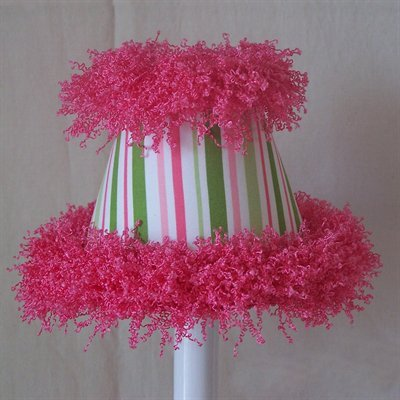 (Silly Bear Lighting Poppin' Pink Party Hat Chandelier Shade, Pink/Green)