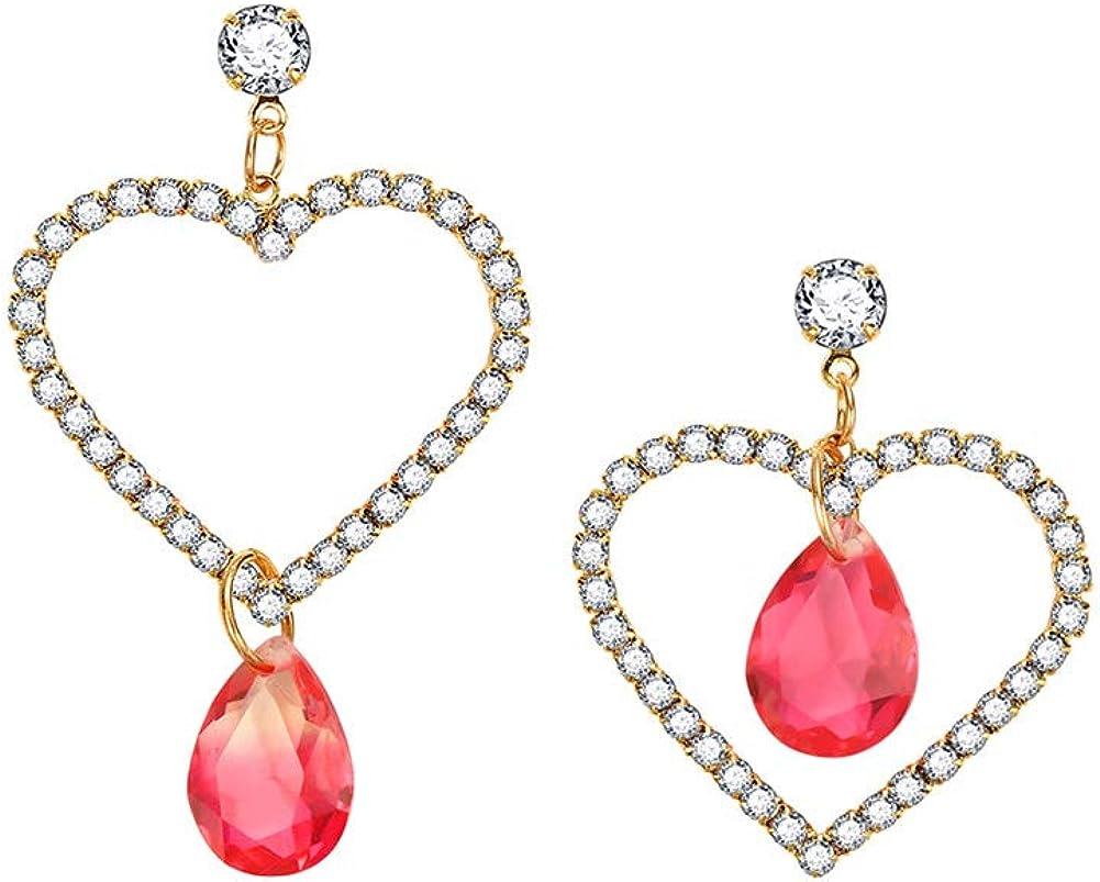 Shuda 1 par Pendientes de mujer Pendientes vintage Pendientes de amor Pendientes de piedras preciosas con diamantes Elegante Moda Perla Pendientes largos Fiesta Personalidad Regalos Accesorios diarios