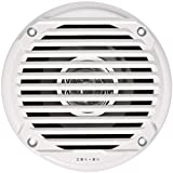 Jensen MS5006WR Dual Cone Waterproof 5.25' Speakers, White, 30 Watts Max Power Handling, Sensitivity 86dB, Frequency Response 79Hz-20kHz, Nominal Impedance 4 Ohms, 1-1/2' Mounting Depth