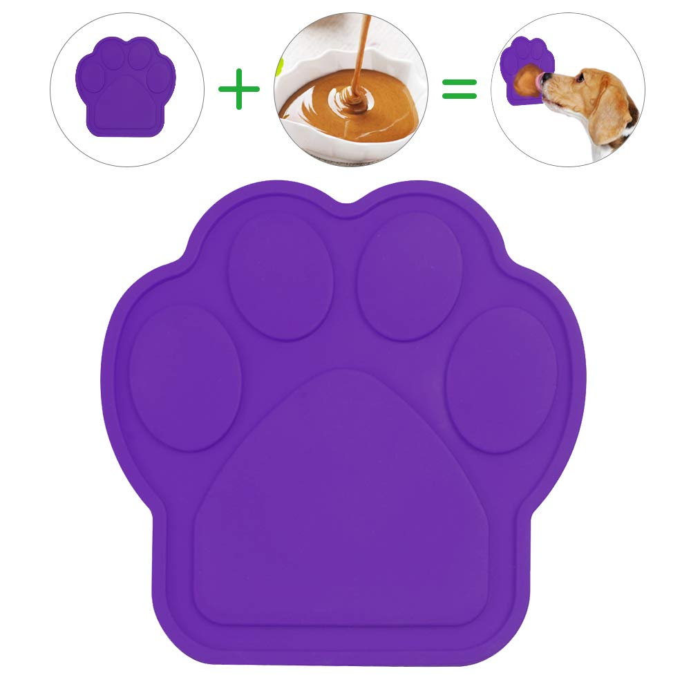 Bath Buddy for Dogs, Dog Distraction, Dog Lick Pad Spreading Peanut Butter to Make Bath Time Easy and Funny, Durable Dog Bath Grooming Accessories Made of Food Grade Silicone, Non-Toxic